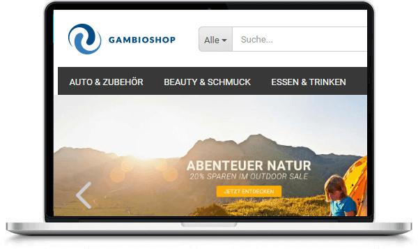 Gambio online Shop